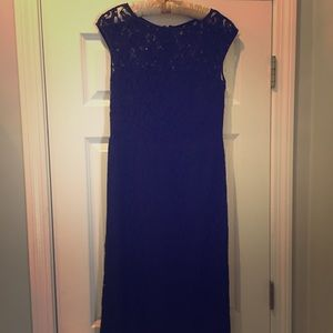 Black lace knee length cocktail dress size 4